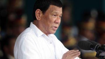 El presidente filipino, Rodrigo Duterte, en un discurso.