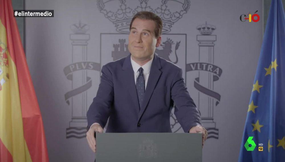 Joaquín Reyes imitó a Pedro Sánchez