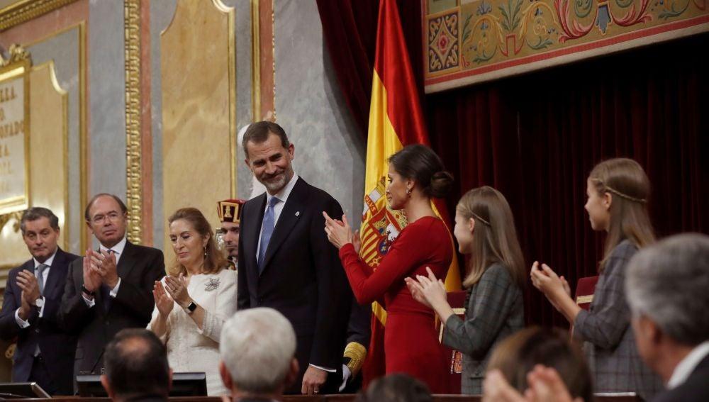 Resultado de imagen de El Rey e Iglesias en el Congreso