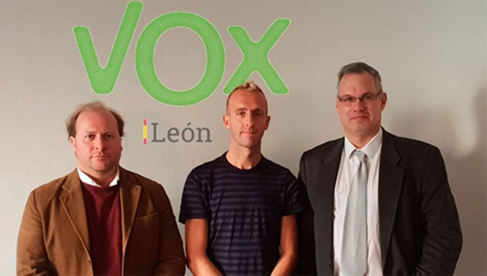 Sergio Sánchez, con Vox León