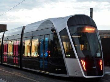 Imagen de archivo de un tranvía de Luxemburgo