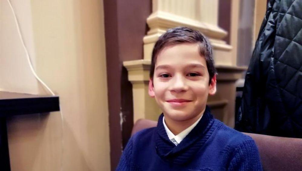 Imagen del niño de nueve años que ha encontrado una supernova
