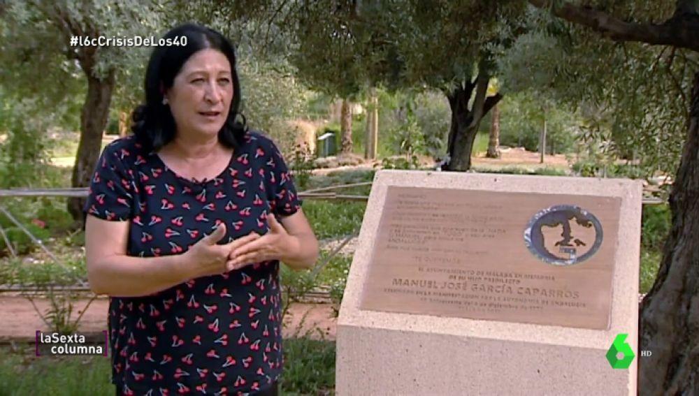 """La hermana de García Caparrós recuerda su doloroso asesinato: """"Tengo esperanza de que con este Gobierno salga la verdad"""""""