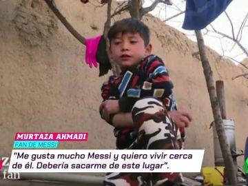 """El drama de Murtaza, el pequeño 'Messi afgano', tras conocer al jugador del Barça: """"Debería sacarme de este lugar"""""""