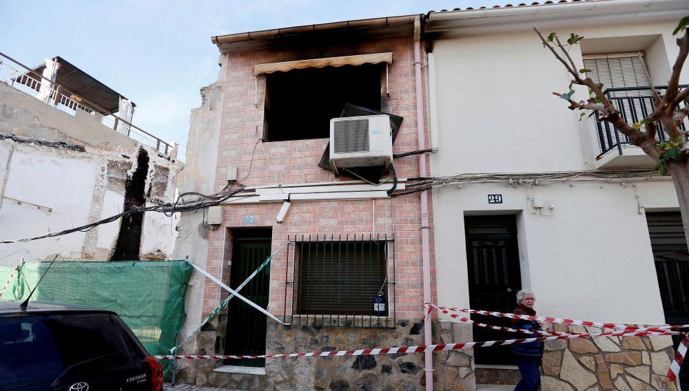 Vivienda de la calle de La Mar Sant Joan d'Alacant en la que se ha declarado un incendio