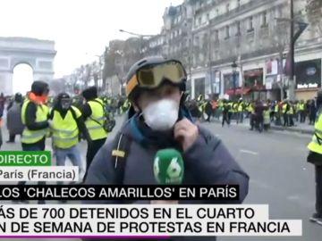 Un periodista de laSexta, testigo en directo de las cargas de la Policía contra los 'chalecos amarillos' en París