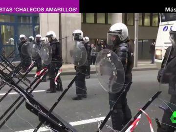 Protestas 'chalecos amarillos' en Bruselas