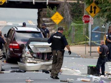 Momento del atropello de Charlottesville