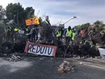 Los CDR cortan la autopista AP-7 en L'Ampolla, en Tarragona