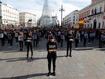 Activistas de Igualdad Animal protestan en Sol