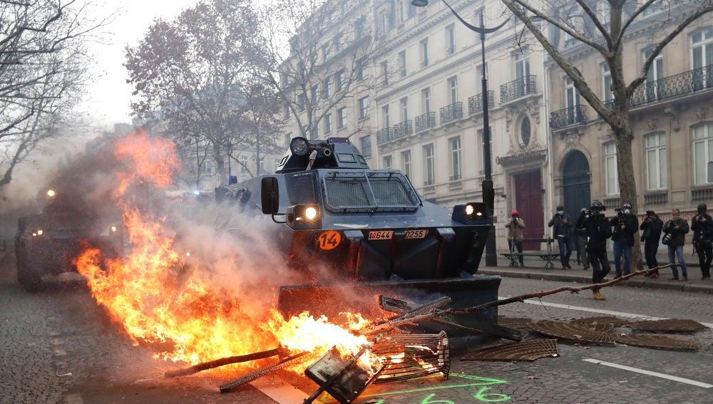 Manifestación de los chalecos amarillos en Francia