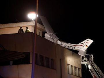 Avioneta estrellada en Badia del Vallès