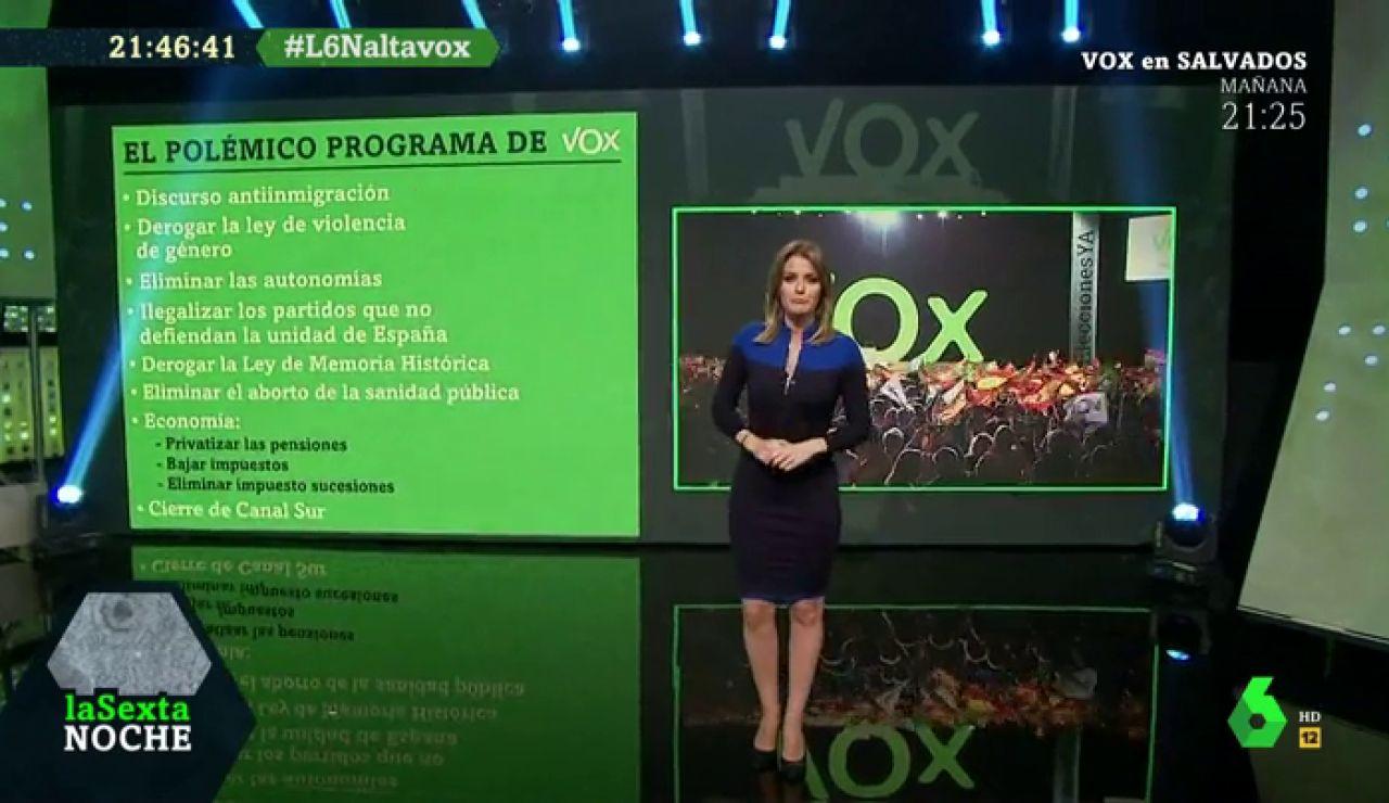 Polémico programa de Vox
