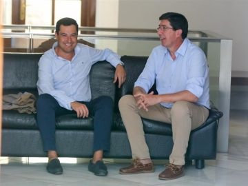 Juanma Moreno y Juan Marín en una imagen de archivo