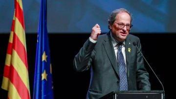 Torra en la presentación del Consejo por la República en Bruselas