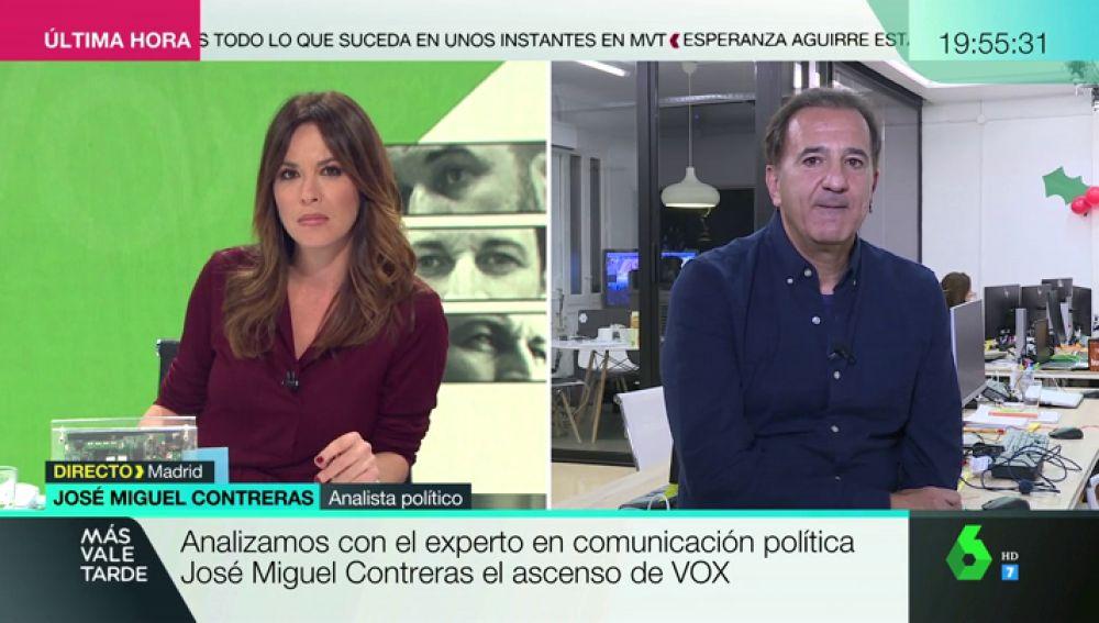 """José Miguel contreras analiza el ascenso de Vox: """"El PP tiene un dilema complicado de comunicación con Vox y Ciudadanos"""""""