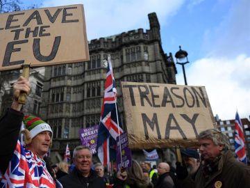 Manifestación en Reino Unido por el Brexit