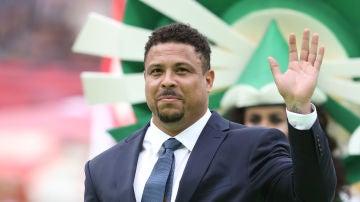Ronaldo Nazario, durante un acto