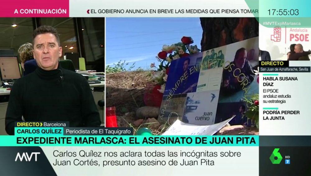 """Carlos Quílez, sobre el asesinato de Juan Pita: """"Era un hombre querido. Se hizo una cabaña porque no quería molestar"""""""
