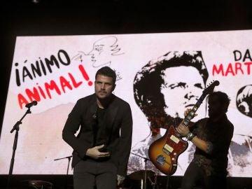 El cantante Dani Martín durante su actuación en el concierto