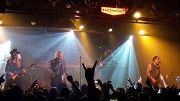 La banda H.E.A.T, en directo en la sala Razzmatazz