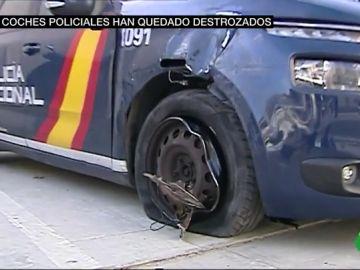 Así quedan los coches de la Policía tras las persecuciones a atracadores por la carretera
