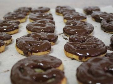 Deliciosas palmeras de chocolate