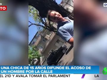 Una chica de 15 años planta cara a un hombre que la estaba acosando en la calle