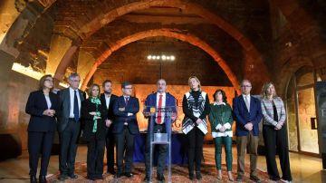 El presidente de Aragón, Javier Lambán, preside la reunión del Consejo de Gobierno de Aragón