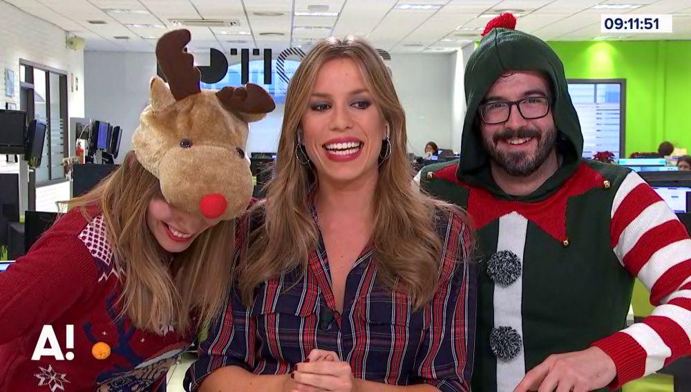 La mejor exhibición de jerseys navideños de los redactores de la cadena