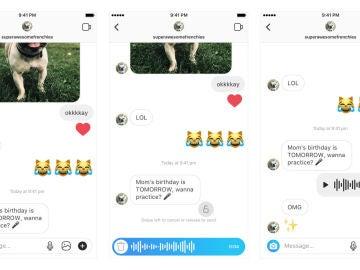 Notas de voz en Instagram