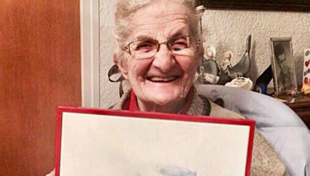 Antonia, la anciana protagonista de la Fabada Litoral