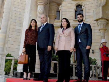 El presidente de Irak, Barham Saleh y la nobel de la Paz Nadia Murad