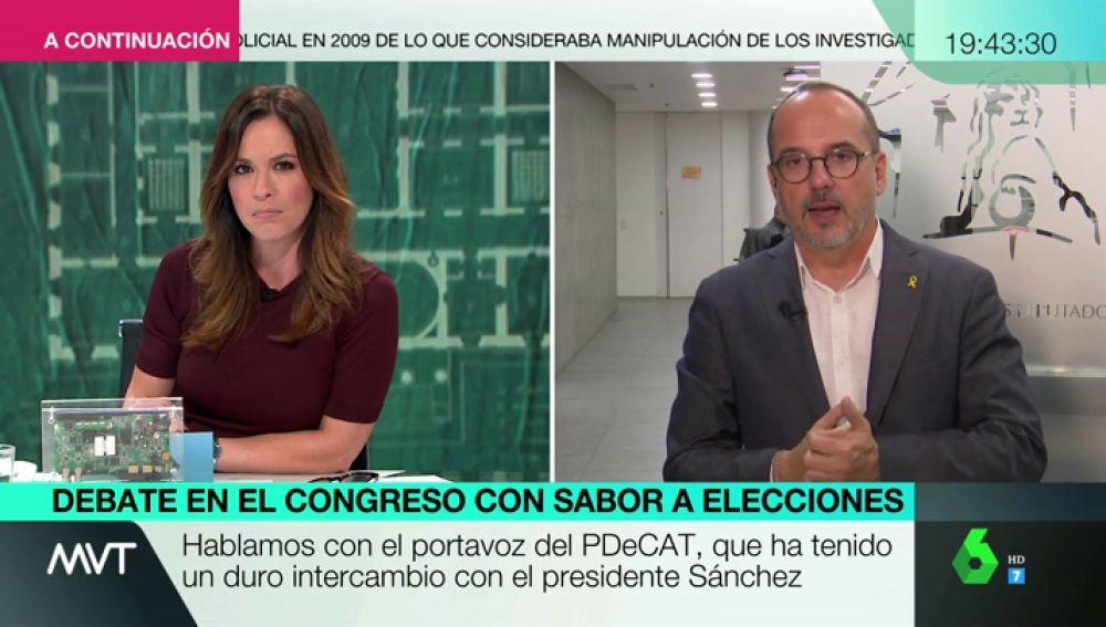 """Carles Campuzano: """"No sé si el PSOE quiere aprobar de verdad los Presupuestos"""""""