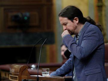 Pablo Iglesias durante una intervención ante el pleno del Congreso