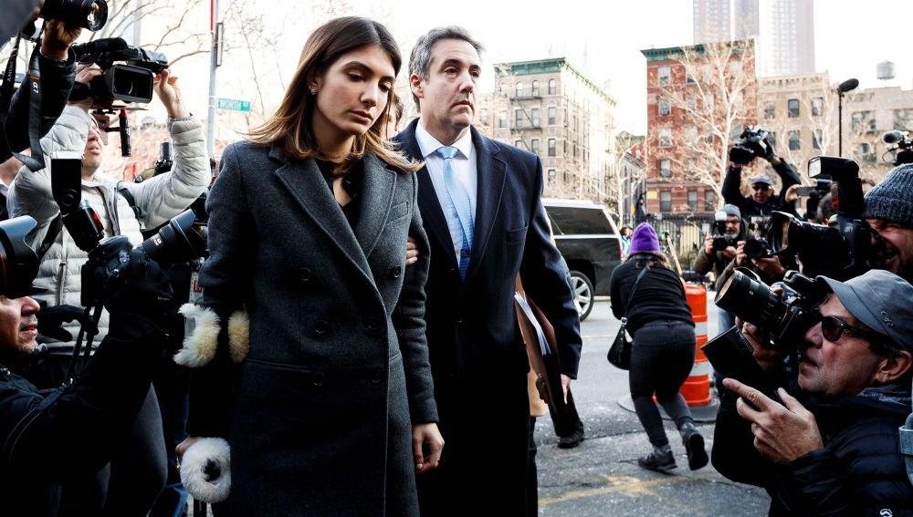 El exabogado personal de Donald Trump, Michael Cohen, a su llegada al Tribunal