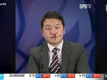El incidente de un presentador en plena información sobre la NBA
