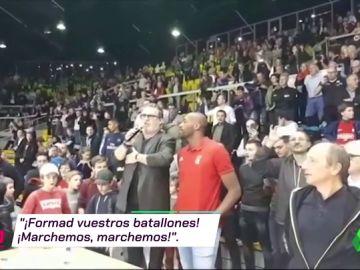 Los asistentes a un partido de baloncesto en Estrasburgo se enteran del atentado y responden cantando la Marsellesa