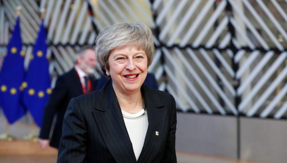 Theresa May, en Bruselas