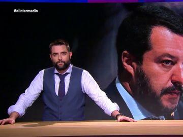 """Dani Mateo analiza la felicitación de Salvini a Vox: """"Vox ha sido felicitado por toda la gente chunga de Europa"""""""