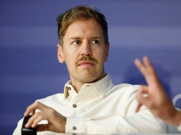 Sebastian Vettel, durante un acto