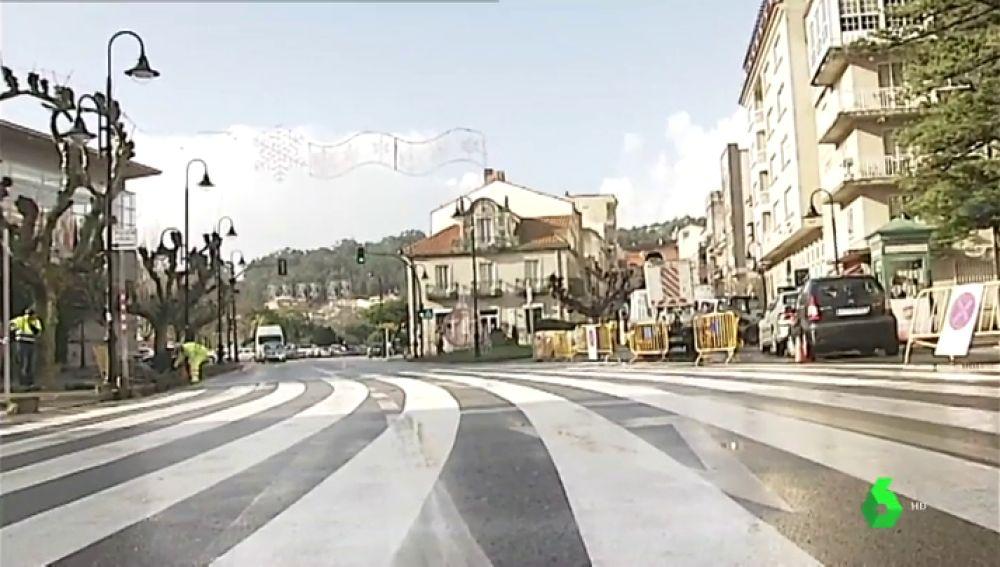 Paso de peatones de Cangas do Morrazo