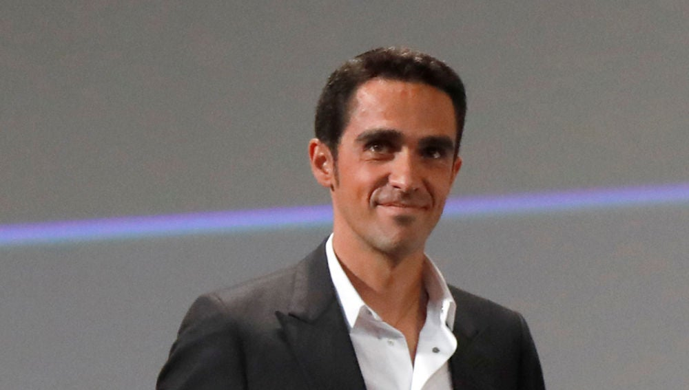 Alberto Contador, durante un acto
