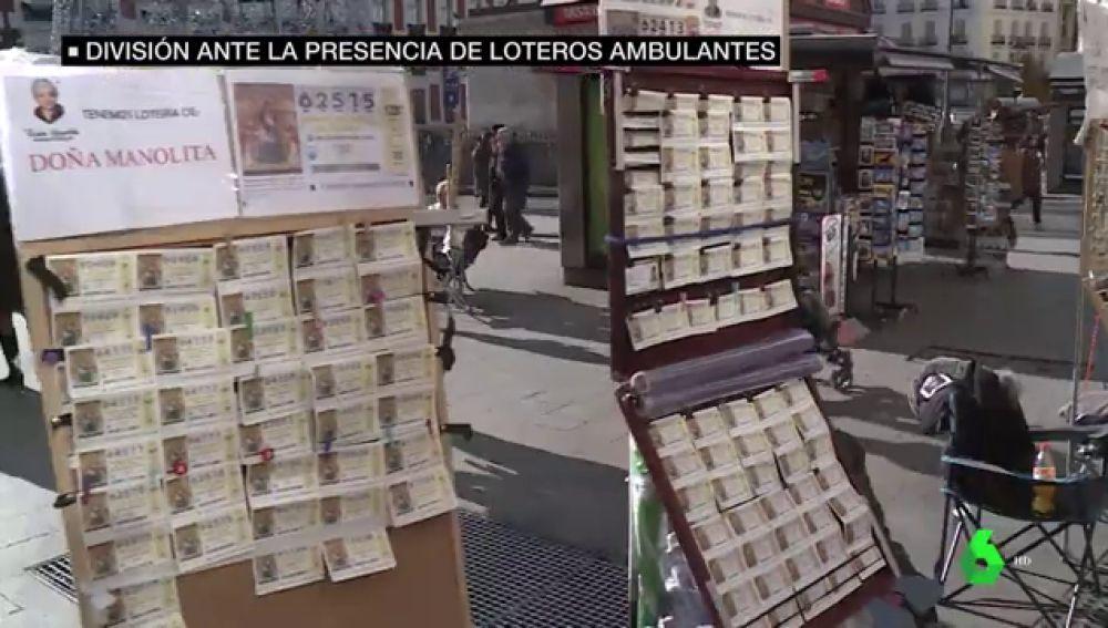 ¿Competencia desleal o tradición?: crece la división entre las administraciones por los loteros ambulantes que venden Lotería de Navidad