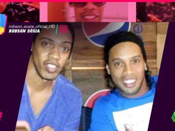 Ronaldinho tiene un doble... ¡que él mismo utiliza para escapar de la prensa!