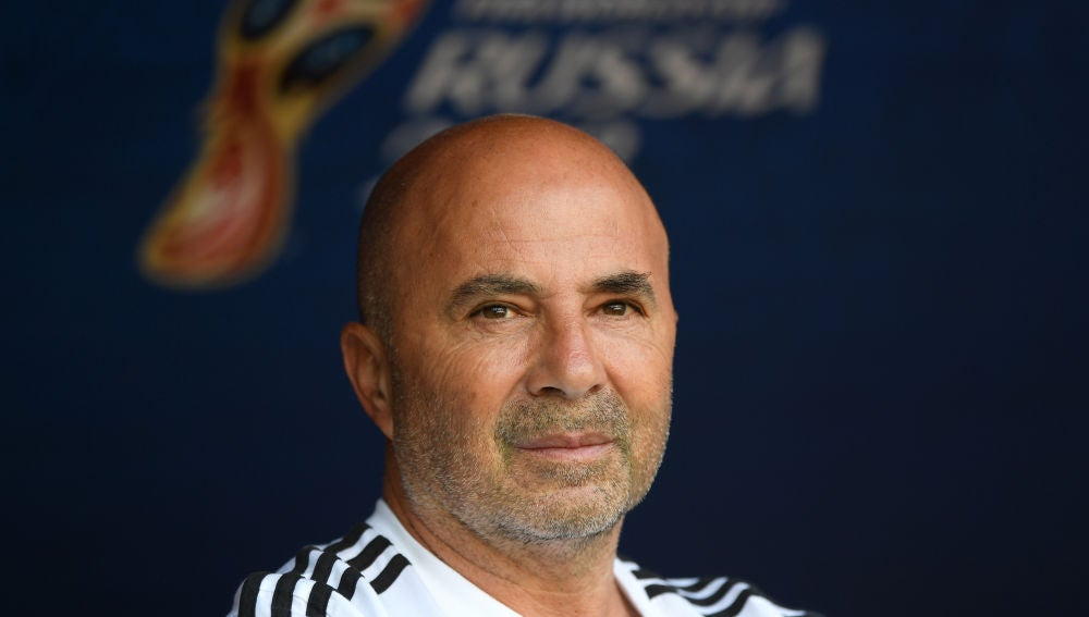 El entrenador Jorge Sampaoli