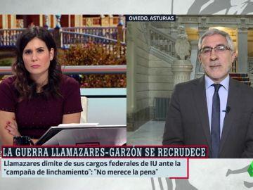 """El 'dardo' de Llamazares a Garzón: """"No voy a establecer un diálogo con alguien que utiliza el insulto y la descalificación"""""""