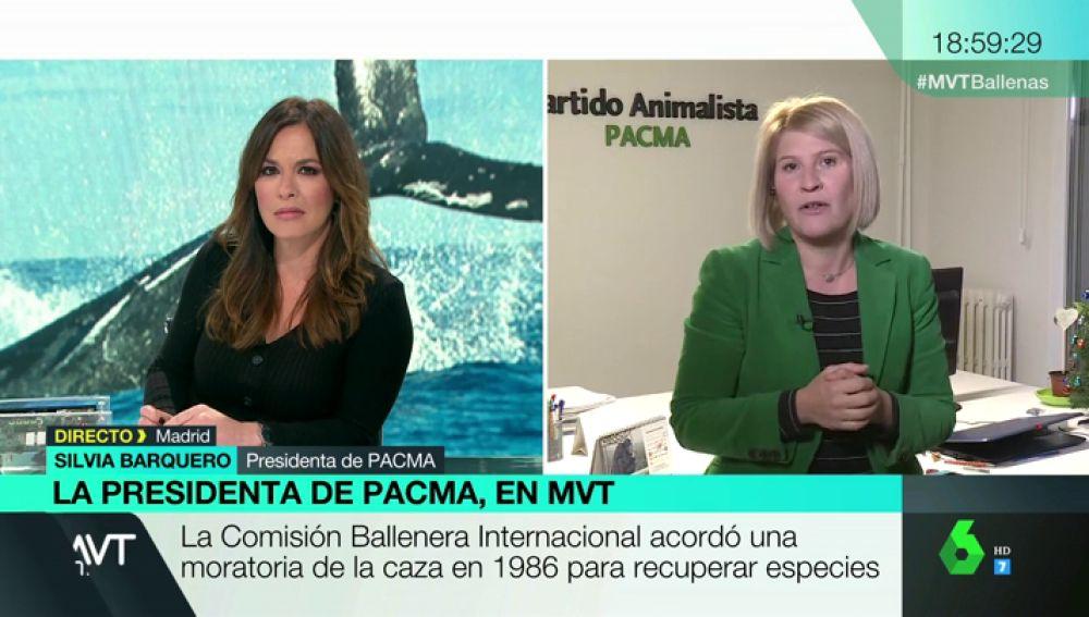 """Silvia Barquero (Pacma): """"Japón utiliza el argumento de la tradición para justificar la matanza de ballenas y estamos asistiendo a una extinción"""""""