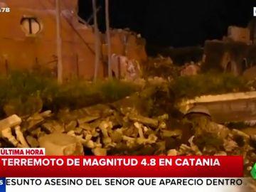 Un terremoto de magnitud 4,8 en Sicilia deja una decena de heridos y daños materiales