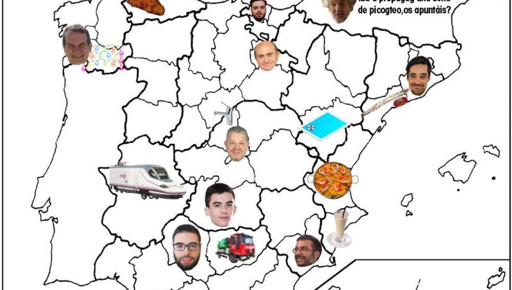Mapa de Twitter con los principales tópicos y memes por provincias